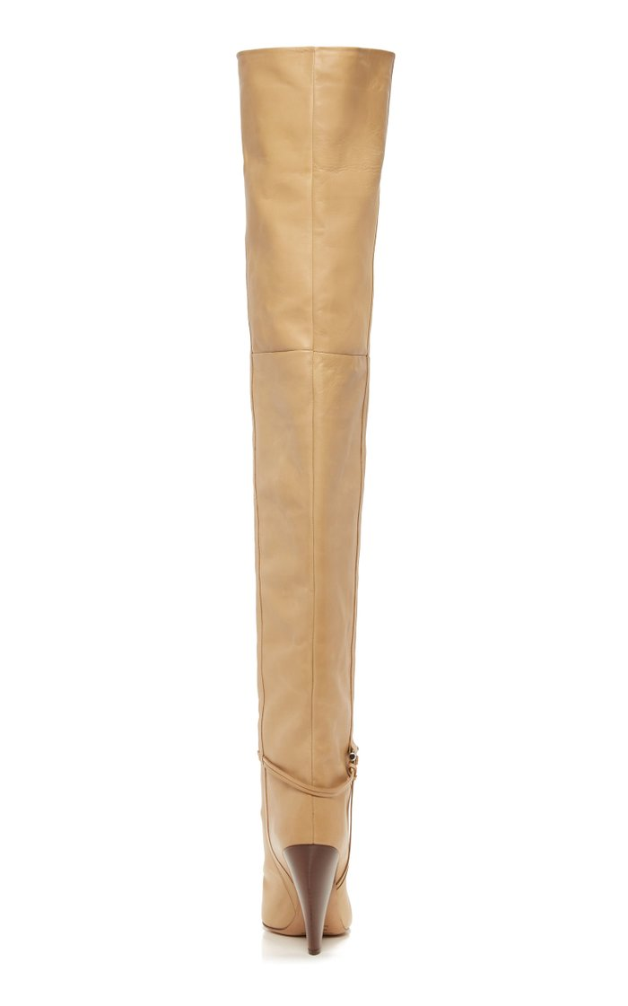 Lage Over-The-Knee Leather Boots