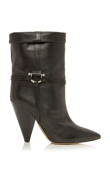Lilet Embellished Leather Ankle Boots