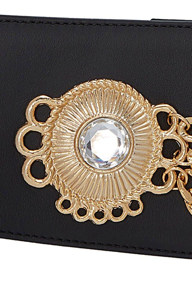 Embellished Leather Waist Belt