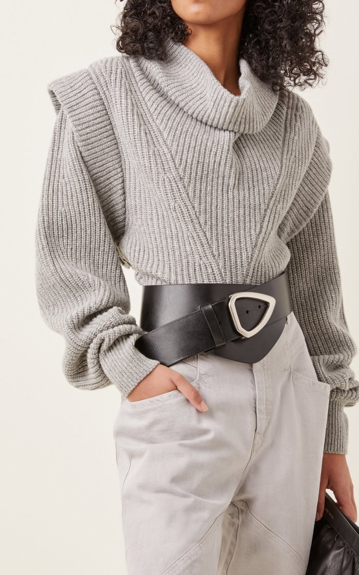 Linka Asymmetric Leather Belt