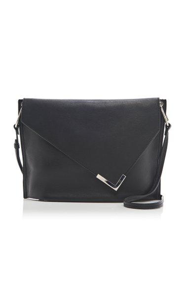 Tryne Metal-Tipped Leather Shoulder Bag