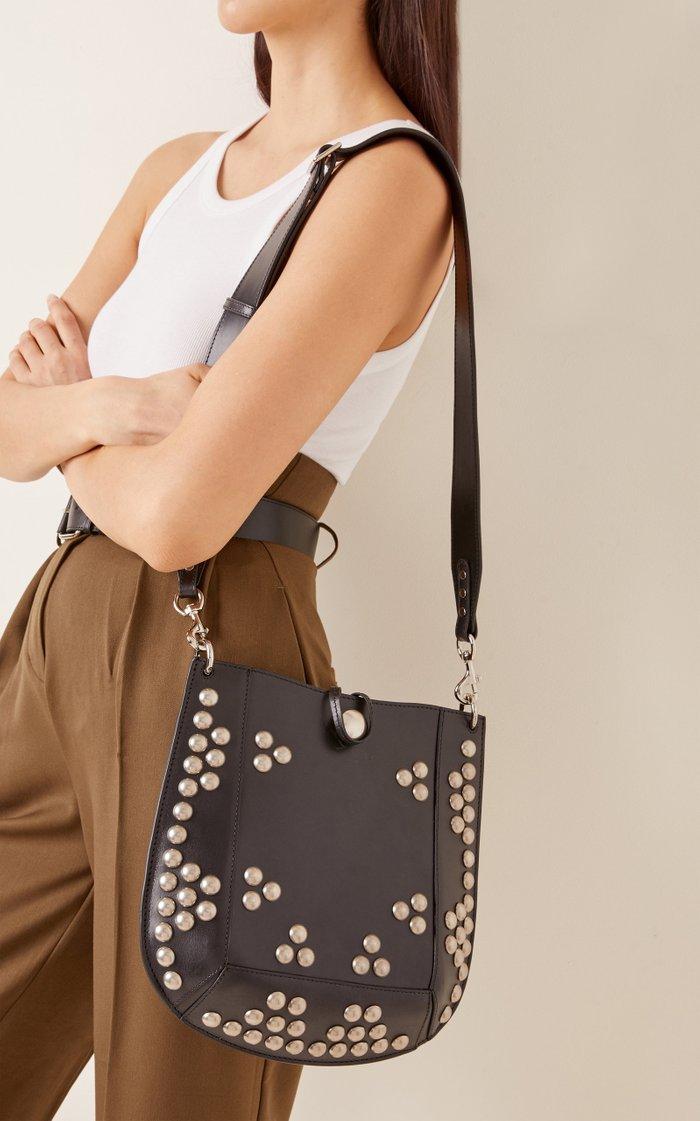 Oskan Studded Leather Shoulder Bag