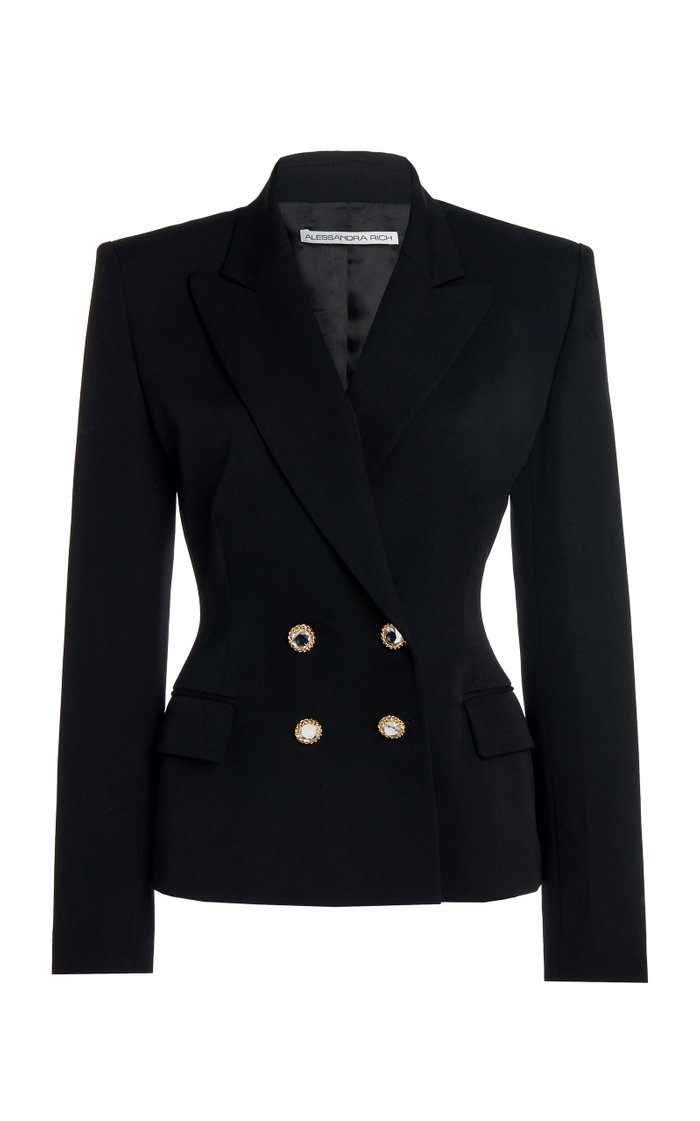 Light Wool Double Breasted Jacket