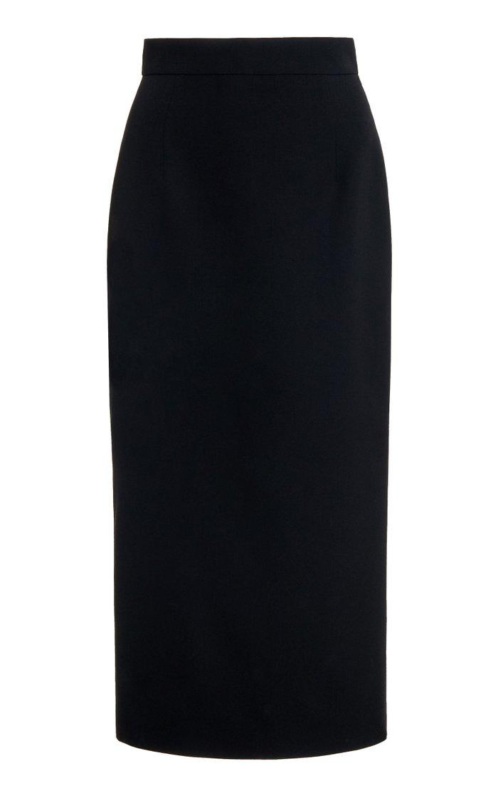 Midi Skirt In Light Wool