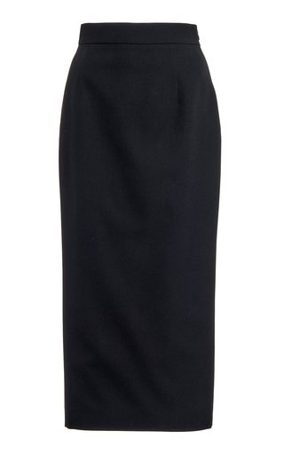 Wool-Blend Midi Pencil Skirt