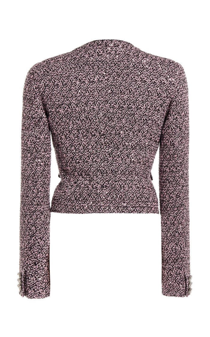 Sequined Tweed Cropped Jacket
