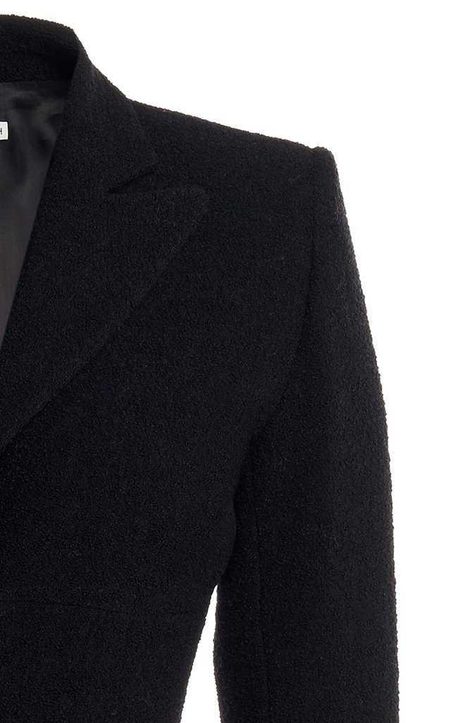 Button-Detailed Tweed Single-Breasted Blazer