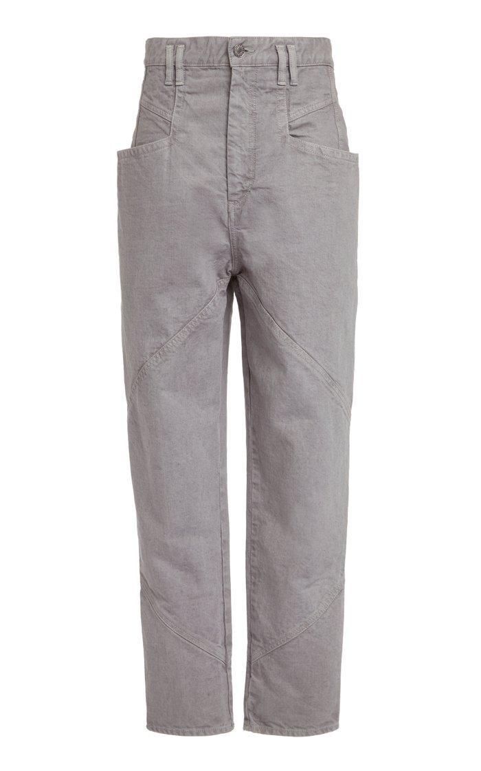Nadeloisa Cropped Cotton Straight-Leg Pants