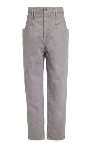 Nadeloisa Cropped Cotton Straight-Leg Pants