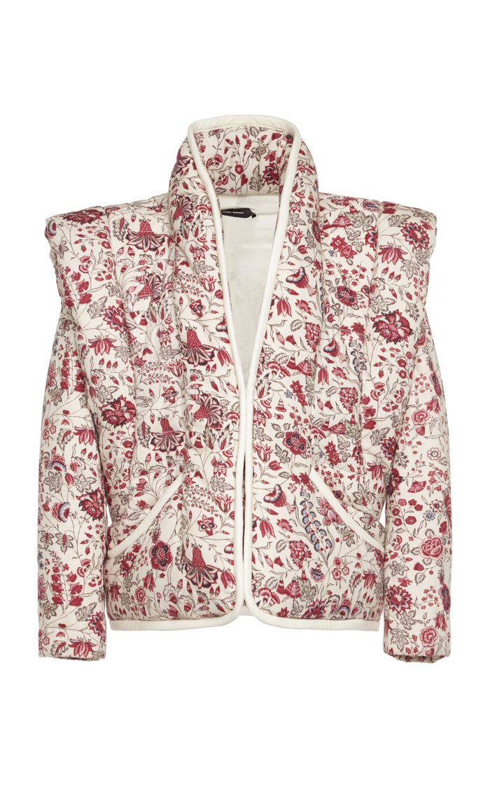 Anissaya Floral-Print Cotton Jacket
