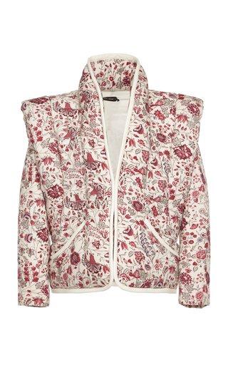Anissaya Floral-Print Cotton Jacket