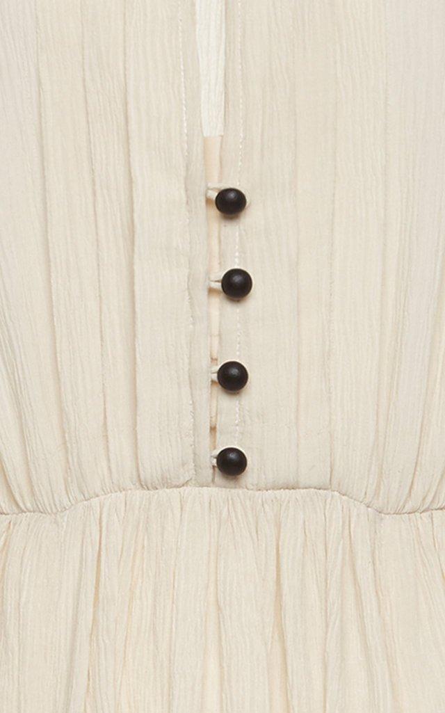 Delio Pleated Cotton-Silk Dress