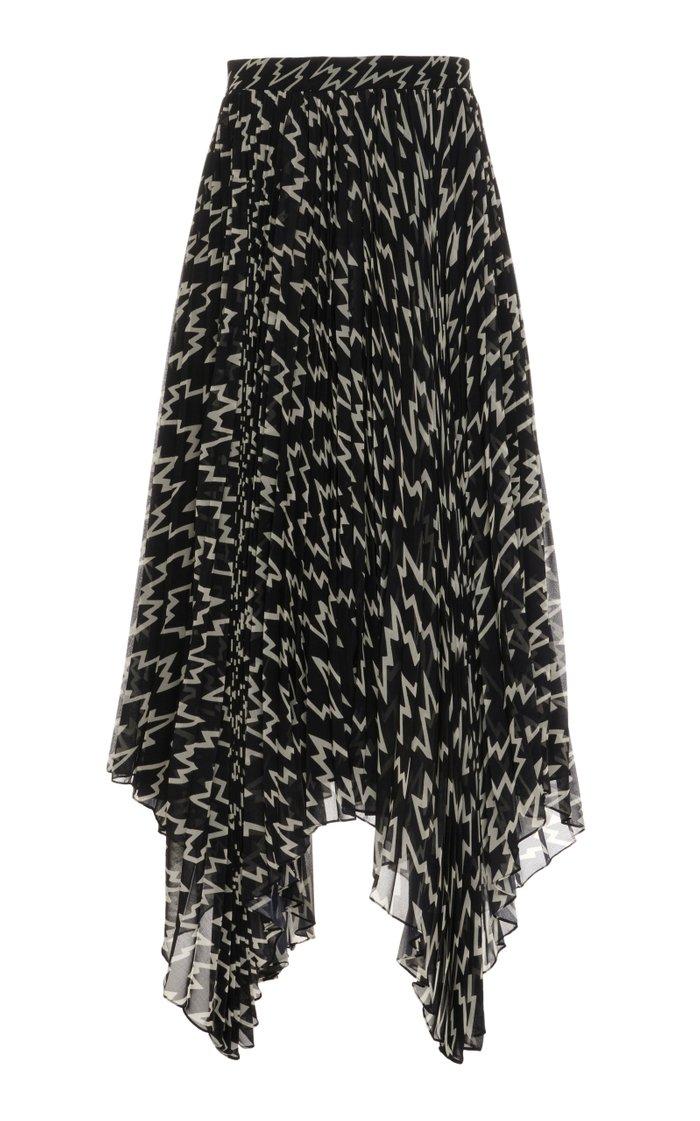 Alena Printed Asymmetric Georgette Skirt