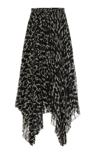 Alena Printed Asymmetric Georgette Skirt