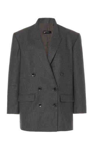 Oladimia Oversized Wool Double-Breasted Blazer