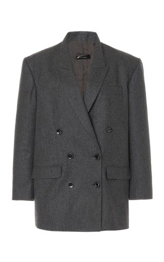 Oladimia Oversized Wool Double-Breasted Blazer