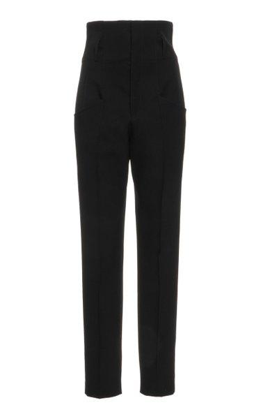 Padme High-Rise Wool Pants