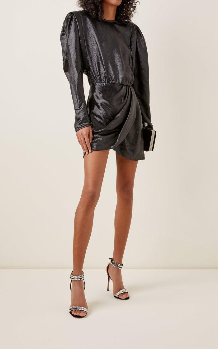 Bagota Puffed-Silk Silk-Blend Dress