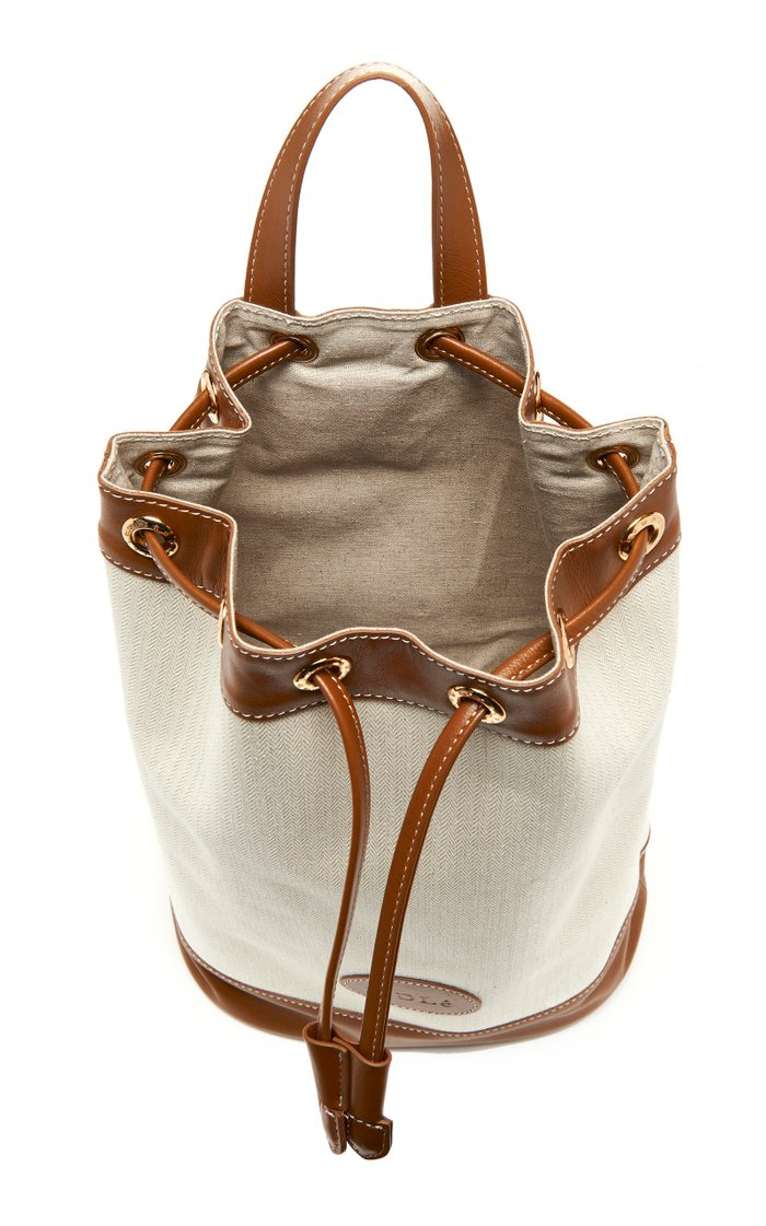 Joy Leather-Trimmed Canvas Backpack