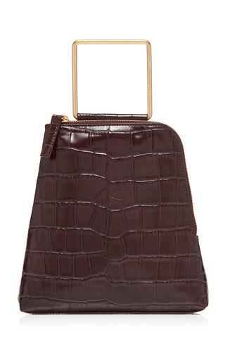 Breeze Croc-Effect Leather Top Handle Bag
