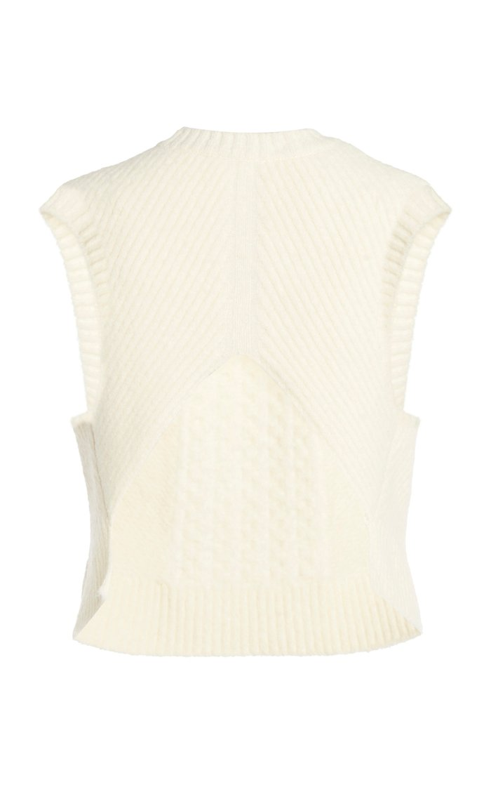 Cropped Cable-Knit Sweater Vest
