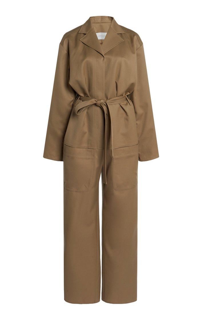 Belted Wool Utility Jumpsuit