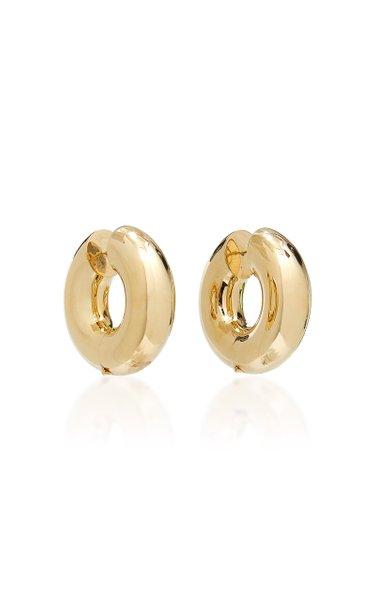 Strato Chunky Brass Hoop Earrings