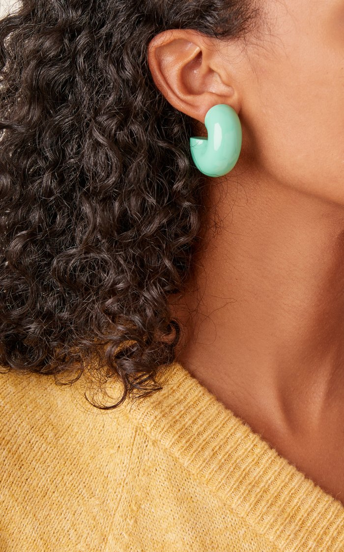 Beam Lacquered Wood Earrings
