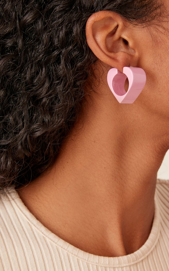 Vertex Lacquered Wood Earrings