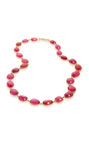 Ruby 18K Yellow Gold Necklace