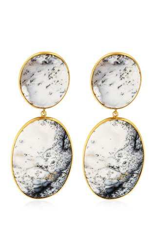 Opal 18K Yellow Gold Earrings