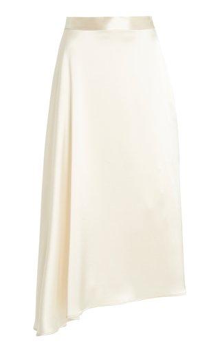 Merel Asymmetric Satin Midi Skirt