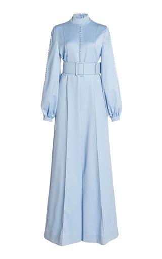 Alvina Button-Detailed Wool Wide-Leg Jumpsuit