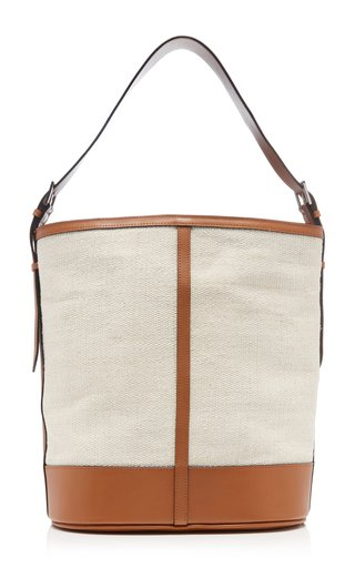 The Hobo Leather-Trimmed Fique Bag