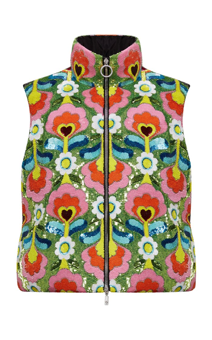 Exclusive 8 Moncler Richard Quinn Liza Floral Technical Vest