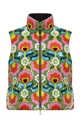 Exclusive 8 Moncler Richard Quinn Liza Floral Technical Vest