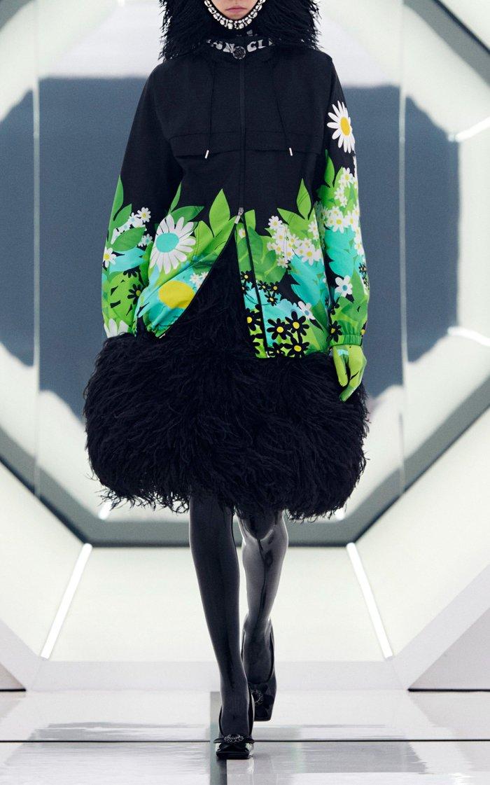 8 Moncler Richard Quinn Pat Floral Technical Nylon Jacket