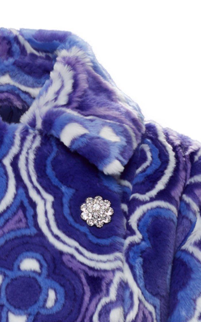 8 Moncler Richard Quinn Donyale Printed Faux Fur Coat