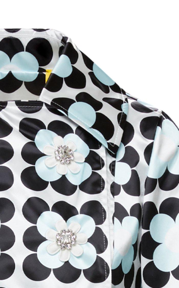 8 Moncler Richard Quinn Shirley Printed Shell Jacket