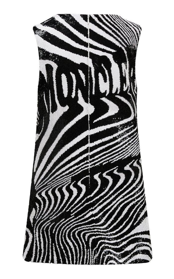 8 Moncler Richard Quinn Exclusive Abito Sequined Silk-Organza Mini Dress