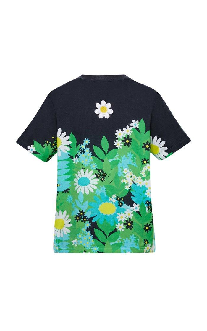 8 Moncler Richard Quinn Floral Cotton T-Shirt