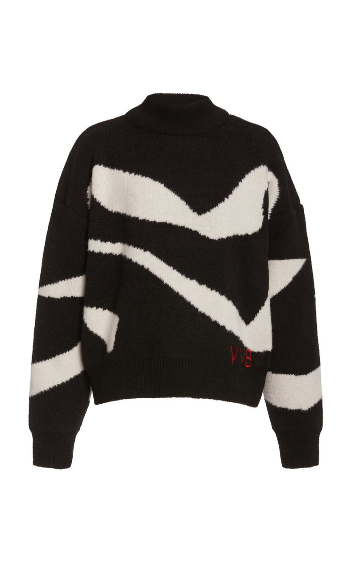 Scarf-Detailed Knit Sweater
