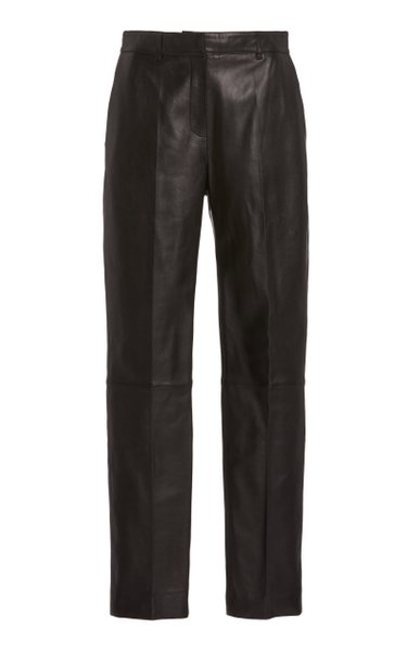 Drainpipe Leather Trousers