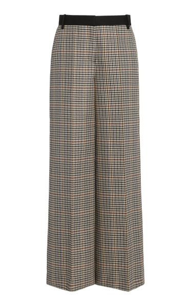 Checked Straight-Leg Trousers