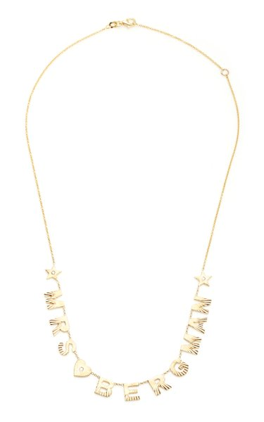 You Are My Sunshine Fluted Initial Name Necklace