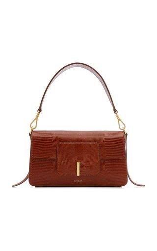 Georgia Lizard-Effect Leather Shoulder Bag