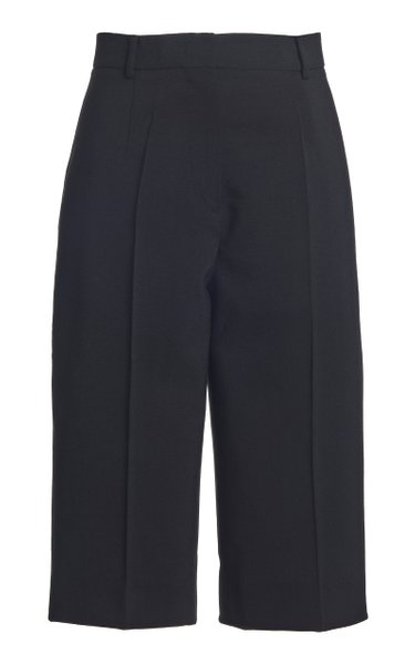 Wool Cady Knee-Length Shorts