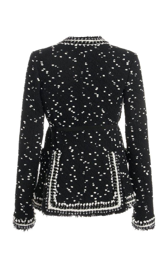 Polka-Dot Tweed Jacket