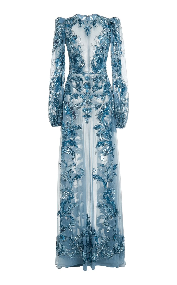 Astor Embroidered Tulle Gown