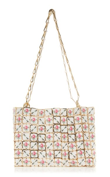 Square Nano Printed-Porcelain Chainmail Shoulder Bag